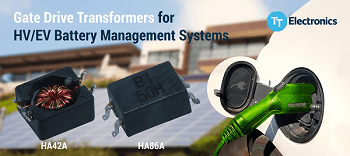TT Electronics introduces new gate drive transformers  for demanding battery management systems