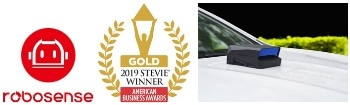 RoboSense Wins Gold 2019 Stevie Award American Business Award for Ground-Breaking Autonomous Driving LiDAR Technology