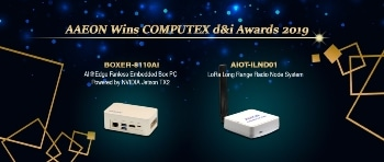 AAEON Honored with Two COMPUTEX d&i Awards for 2019