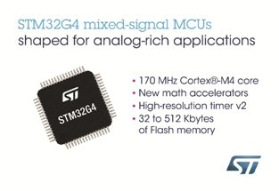 STMicroelectronics Raises Performance, Efficiency, and Security of Next-Generation Digital Power Applications with STM32G4 Microcontrollers