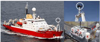 Ship-Mounted Direct and Diffuse Hyperspectral Radiometers Successfully Measure Solar Irradiances and Aerosol Optical Depth