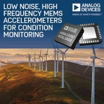 Analog Devices MEMS Accelerometers Deliver Compelling Noise Performance for Condition Monitoring Applications