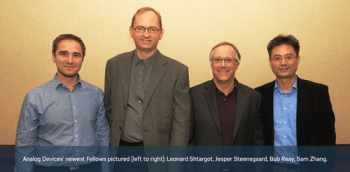 Analog Devices Names Four Fellows for Outstanding Technical Achievement and Leadership