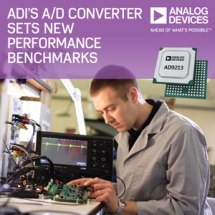 Analog Devices' 12-Bit 10.25-GSPS Radio Frequency ADC Sets New Performance Benchmarks for Instrumentation and Defense