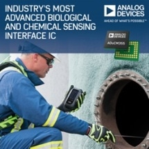 Analog Devices Unveils Industry's Most Advanced Biological and Chemical Sensing Interface IC