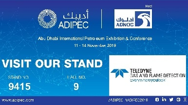 Teledyne Gas and Flame Detection to Attend ADIPEC