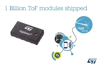 STMicroelectronics Ships 1 Billionth Time-of-Flight Module