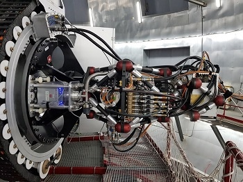 Optical Flow Sensors Monitor Cooling of the World's Most Sensitive Astronomical Camera