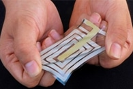 Development of High-Efficiency Flexible Thermoelectric Device for Wearable Technologies