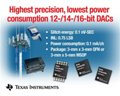 Texas Instruments Introduces Precise + Low Power Consumption Family of DACs
