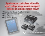 TI Launches Wide-Input Voltage Synchronous Boost Controllers with High Efficiency and Power Density