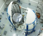 Second Mobile User Objective System Satellite Built by Lockheed Martin Encapsulated Into Payload Fairing