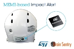 Brain Sentry Impact Sensor Utilizes ST's MEMS Accelerometer for Monitoring Head Impacts