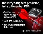 TI Launches Fully Differential, Zero-Drift, 36-V Programmable Gain Amplifier