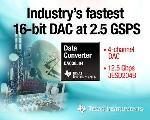 Texas Instruments Unveils High Speed 16-bit DAC