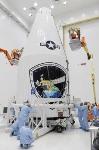 Defense Meteorological Satellite Program Satellite Encapsulated Into Payload Fairing