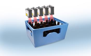 Micro-Epsilon Non-Contact Laser Scanners Enable Height Measurement and Presence Detection of Beer Bottles in Moving Crates