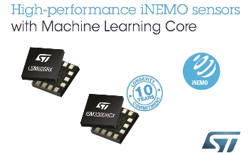 High-Grade iNEMO Sensors from STMicroelectronics Deliver Machine-Learning Core Efficiencies for Industrial and Consumer Applications
