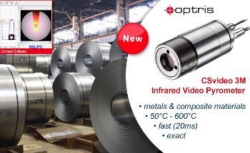 Video Pyrometer - CSvideo 3M from Optris For Optimal Alignment and Focus