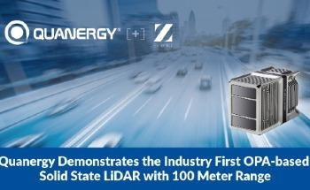 Quanergy Demonstrates the Industry First OPA-based Solid State LiDAR with 100 Meter Range