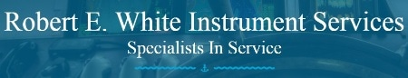 Robert E. White Instrument Services logo.