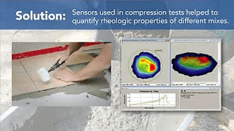 Video to Show Pressure Mapping Technology for Compression Testing Mortar Mixtures